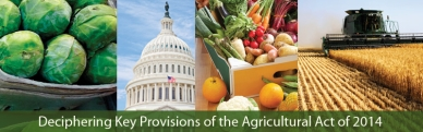 Deciphering Key Provisions of the Agricultural Act of 2014