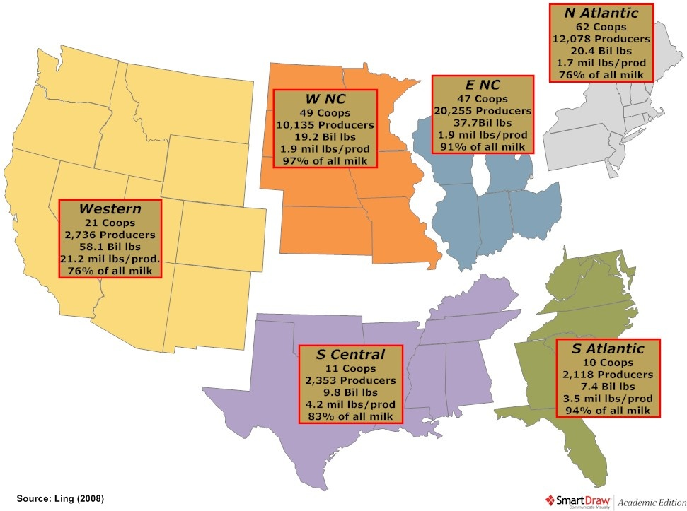 Home Choices Magazine Online - Where are the dairyon the us map